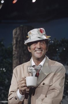 Entertainer Dean Martin on the set of 'The Dean Martin Show' in 1968 in Los Angeles, California.