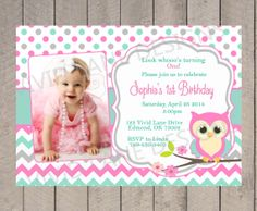 First Birthday Invitation Cupcake Girls 1st Birthday Invitation