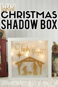Home Decorating Ideas Kitchen and room Designs Diy Christmas Shadow Box, Christmas Svg, Christmas Projects, Christmas Ideas, Christmas Box Frames, Holiday Crafts, Christmas Decorations, Diy Shadow Box, Shadow Box Frames