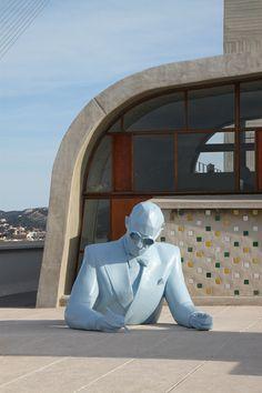 Le Corbusier (Buste), 2013  Artiste : Xavier Veilhan, Architectones  Unité d'habitation, Cité Radieuse MAMO, Marseille, France  Photo : Vincent Laganier