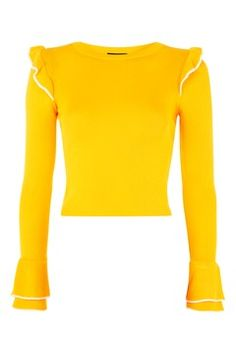 Tipped Frill Crop Top