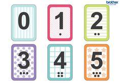 Number Flash Cards for Kids