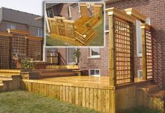 Lattice Deck  Lattice walls are great looking and an inexpensive way to provide privacy
