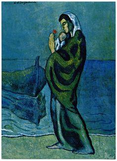 Picasso Pablo Periodo Azul 1901 1904 Picasso Periodo Azul De Picasso Pinturas De Picasso