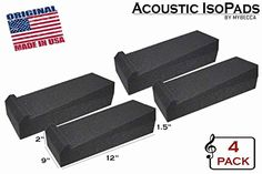 4 Pack Studio Monitor Isolation Pads Soundproofing Acoust...