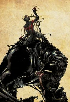 Spider-Man vs Venom by Sara Pichelli