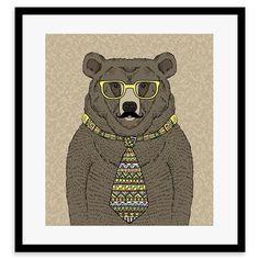 Whimsical Animals - Timothy, Framed Print, 30x40cm
