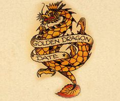 The Golden Dragon  During Sailor Jerry's day, Asia was a distant exotic place - so sailors who served at an Asian station memorialized it on their skin with the symbol of a dragon. Dragons also the marked the crossing of the International Date Line and other Asiatic crossings. Non-sailors like dragons for their Chinese meaning of strength and luck.
