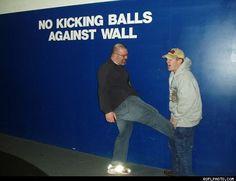 No Kicking Balls Against Wall