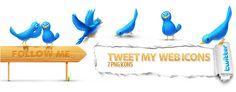 Tweet My Web 7 icons | Artdesigner.lv