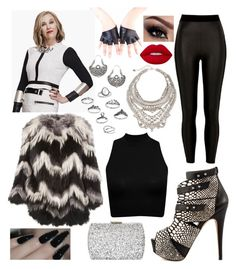 """""""Moira Rose"""" by insired ❤ liked on Polyvore featuring Kate Ferguson, Yves Salomon, River Island, DYLANLEX, Reclaimed Vintage, Lime Crime and Natasha"""