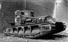 """kruegerwaffen: """"Captured English light tank Whippet. World War I """" """"light"""" """""""
