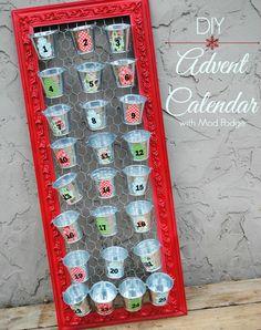 DIY Advent Calendar with Mod Podge {mamabzz.com}