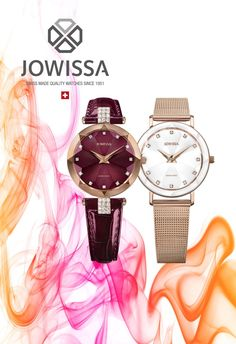 Swiss Watches for women, made with quality and excellence by Jowissa, make great gift ideas for her. Find rose gold watches, watches in bold color, and sparkling designs right here. Ladies Watches, Watches For Men, Swiss Made Watches, Affordable Watches, Great Gifts For Men, Rose Gold Watches, Cut Glass, Bold Colors, Bracelet Watch