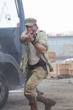 The Expendables 3 (2014) - Still of Stallone during Firefight in Somalia