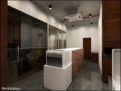 We designed this office after learning about the goals and objectives of the client and conducted a thorough analysis of his existing workplace and how the employees are utilizing it.