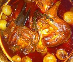 Most people are familiar with beef stifado but, traditionally, this wonderful dish is made with rabbit or wild hare. In my opinion, the rabbit version is far better than the beef. Rabbit Dishes, Rabbit Stew, Rabbit Food, Wild Game Recipes, Meat Recipes, Cooking Recipes, Rabbit Recipes, Delicious Recipes, Dinner Recipes