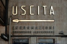 Santa Maria Novella Railway Station, Firenze IT // VERNACULAR TYPOGRAPHY