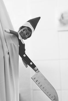 This is how I see that creepy elf -seriously he freaks me out lol
