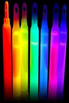 rainbow glowsticks