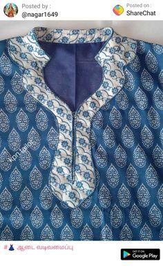 Kurti Sleeves Design, Sleeves Designs For Dresses, Kurta Neck Design, Saree Blouse Neck Designs, Blouse Designs, Neck Design For Kurtis, Chudithar Neck Designs, Neck Designs For Suits, Neckline Designs