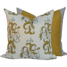 Yellow Decorative Cushion Pillow Cover 14 by ChloeandOliveDotCom, $28.00