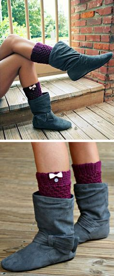 Cute Bow Boots //