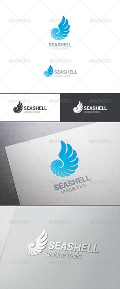 Logo Sea Shell Silhouette Abstract #graphicriver