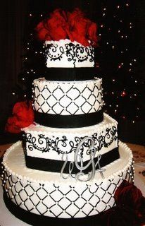 Red and Black cake :)