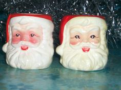 Inarco Vintage Santa Claus Candle Holders by thetrendykitchen, $9.99