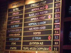 craft beer menus photos | ... menu of draft beers. Everything at The Pony Bar is American Craft beer