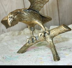 Vintage Brass Eagle With Wing Span of 16 1/2 by BuyBackYesterday, $29.75
