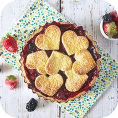 Torta Semi-aberta de frutas vermelhas | Vídeos e Receitas de Sobremesas