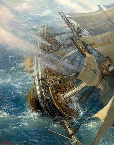 Żeglarskie prezenty, upominki z Morską Duszą, sklep marynistyczny, morski wystrój wnętrz, maryn Moby Dick, Sea Pirates, Nautical Artwork, Ocean At Night, Sea Storm, Old Sailing Ships, Pirate Art, Ship Paintings, Fantasy Landscape