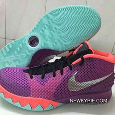 half off 89ade f9a46 Nike Kyrie 1 Mens Shoes Medium Berry Purple Orange Black Discount