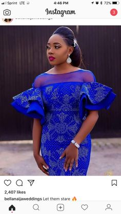 Likes, 9 Comments – Aso Ebi Styles (Aso Ebi Bella) on Insta… Diyanu - Aso Ebi Styles African Lace Styles, African Lace Dresses, Latest African Fashion Dresses, African Print Fashion, Africa Fashion, Ankara Fashion, 50s Dresses, Elegant Dresses, African Attire