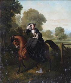 Unidentified portrait; Alfred de Dreux, bef. 1860.   In the Swan's Shadow