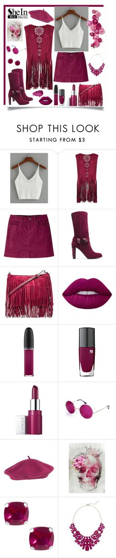 """Raspberry Beret"" by julie-marie-green ❤ liked on Polyvore featuring Mountain Khakis, Stuart Weitzman, Rebecca Minkoff, Lime Crime, MAC Cosmetics, Lancôme, Clinique, Urban Decay, Jewel Exclusive and Eye Candy"