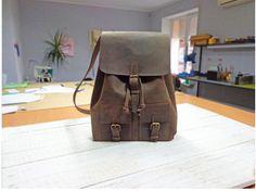 Leather backpack vintage Leather backpack by ArtLeatherDesign