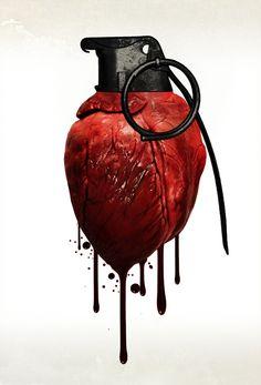 Heart Grenade Art Print by Nicklas Gustafsson