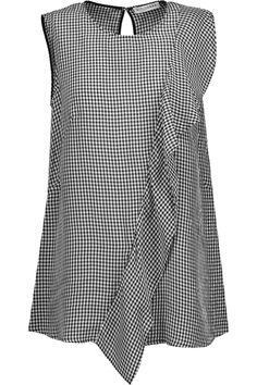 ALTUZARRA Belem ruffled gingham seersucker top. #altuzarra #cloth #