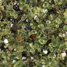 Olivine sand collected near the southern tip of Hawaii. It is from a tiny cove on the coastal trail, not from the beach itself where the grains tend to be duller green. The width of the view is 10 mm. Minerals And Gemstones, Rocks And Minerals, Green Sand Beach, Beaches In The World, Crystal Grid, Rocks And Gems, Beach Pictures, Stones And Crystals, Gem Stones