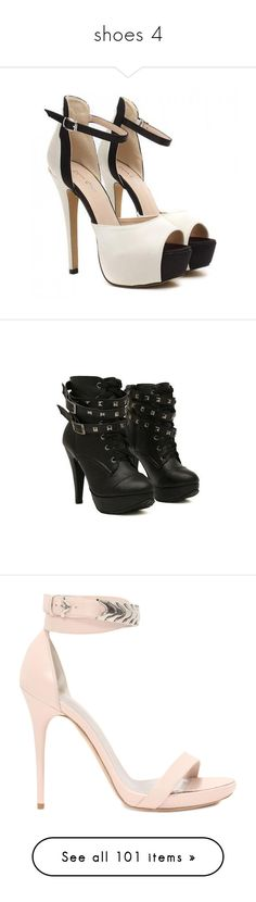 """""""shoes 4"""" by ordinarygirl16 ❤ liked on Polyvore featuring shoes, sandals, heels, high heels, sapatos, high heel shoes, heeled sandals, high heeled footwear, high heels sandals and colorblock shoes"""