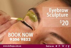 Bella Medispa renders an effective way of helping you achieve beautifully smooth hairless skin through our selection of effective waxing treatments. Try our Eyebrow Sculpture for only $20. Call 9356 9822 for your appointment or visit us online: http://ift.tt/2ap6uFT