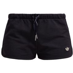 adidas Originals Shorts ($24) ❤ liked on Polyvore featuring shorts, bottoms, pants, k.s.hlace, black, elastic waistband shorts, cotton elastic waist shorts, tall shorts, black cotton shorts and short shorts