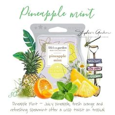 Ohhh Pineapple Mint is one delicious fragrance- notes of freshly picked garden mint really makes the pineapple notes pop Fills the house with fabulous spring scent