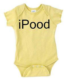 Another great find on #zulily! Lemon 'iPood' Bodysuit - Infant by Rainbow Swirlz #zulilyfinds