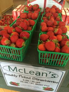 McLean Berry Farm, Buckhorn, Ontario #KawarthaChamber Country Cooking, Food Preparation, Fine Dining, Farmers Market, Ontario, Cravings, Strawberry, Meals, Fruit