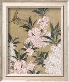 Cherry Blossoms and Dragonfly Poster