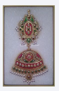 The Marble Jewelry Paintings are broadly appreciated for their outstanding artistry and fineness. The best Marble Jewelry Paintings having sophisticated work done by skilled artisans. The Marble Jewelry Paintings are made-up using fine marble. Thorough work with gold, silver and other metals. This art is mixture of Miniature Painting, Gold Leaf Emboss work and Semi-Precious Stones. Must have for home decoration and gives a sophisticated look to home decor. #craftsofindia #indianhandicrafts…